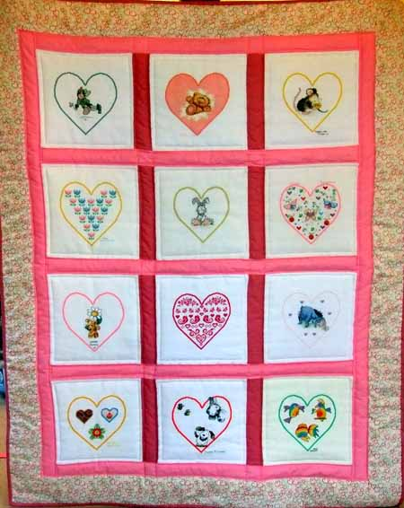 Photo of Hearts quilt