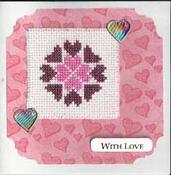 Card for Emergency Quilt: Hearts