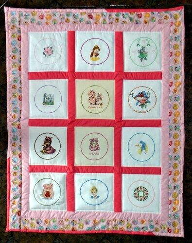 Photo of (QUILTED) Circles 4s quilt