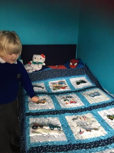 Photo of Alfie Os quilt