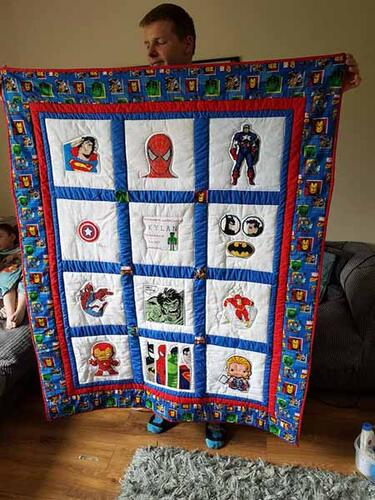 Photo of Kylan Js quilt