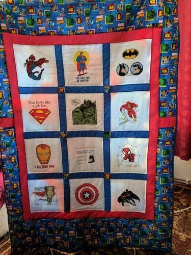Photo of Bradley Bs quilt