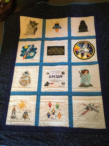 Photo of Calum Ms quilt