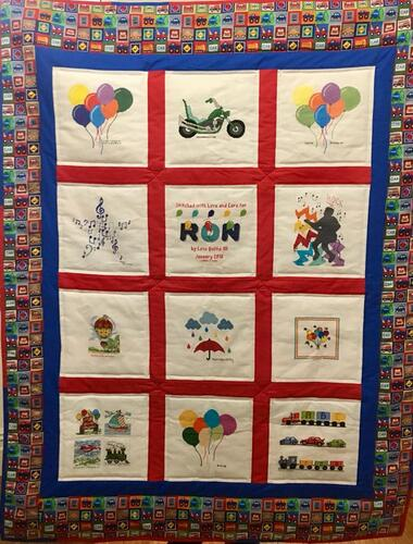 Photo of Ron Cs quilt