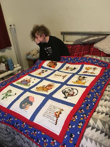 Photo of Jack Bs quilt