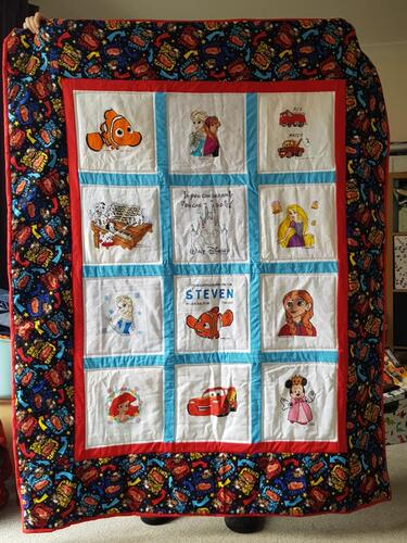 Photo of Steven Ls quilt