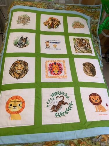 Photo of Thomas Gs quilt