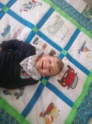 Photo of Sebastians quilt