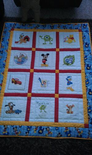Photo of Tyler Lees quilt