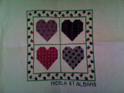 Cross stitch square for Lexi H's quilt