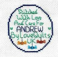 Cross stitch square for Andrew C's quilt