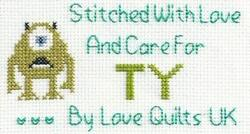 Cross stitch square for Ty S's quilt