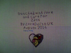 Cross stitch square for Zayn S's quilt