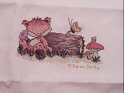 Cross stitch square for Emergency Quilt: Cute Animals's quilt