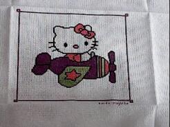 Cross stitch square for Lexi-May's quilt