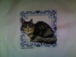 Cross stitch square for Eloise L's quilt