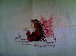 Cross stitch square for Rebecca H's quilt