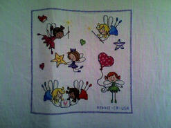 Cross stitch square for Summer T's quilt