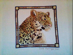 Cross stitch square for Jay T's quilt