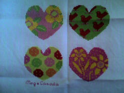 Cross stitch square for Myla C's quilt