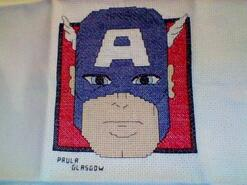 Cross stitch square for Hugh M's quilt