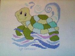 Cross stitch square for Alexander L's quilt