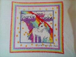Cross stitch square for Rebecca's quilt