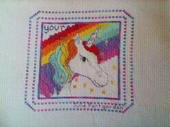 Cross stitch square for Macie-Leigh's quilt