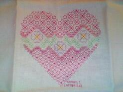 Cross stitch square for Jennifer W's quilt