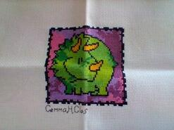 Cross stitch square for Grayson's quilt