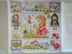 Cross stitch square for Autumn-Lily's quilt