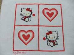 Cross stitch square for Grace S's quilt