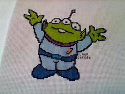 Cross stitch square for Emergency Quilt: Disney's quilt
