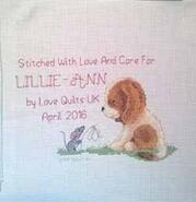 Cross stitch square for Lillie-Ann P's quilt