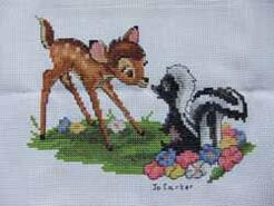 Cross stitch square for Bradley's quilt