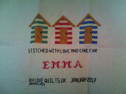 Cross stitch square for Emma's quilt
