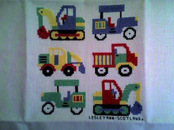 Cross stitch square for Caleb C's quilt