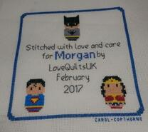 Cross stitch square for Morgan K's quilt