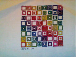 Cross stitch square for Bella G's quilt