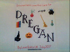 Cross stitch square for Dregan T's quilt