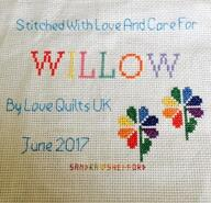 Cross stitch square for Willow T's quilt