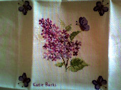 Cross stitch square for Chloe R's quilt