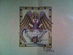 Cross stitch square for Wynter-Rose's quilt