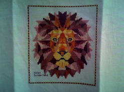Cross stitch square for Theo B's quilt
