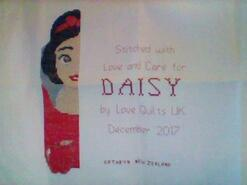 Cross stitch square for Daisy B's quilt