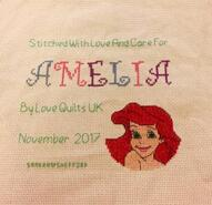 Cross stitch square for Amelia's quilt