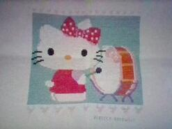 Cross stitch square for Poppy W's quilt