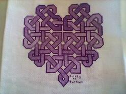 Cross stitch square for Ellie P's quilt
