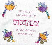 Cross stitch square for Molly L's quilt