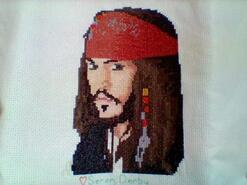 Cross stitch square for Oscar J's quilt